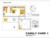 projekt rodinného domu family cube 1 podorys 1 np