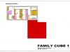 projekt rodinného domu family cube 1 podorys 2 np