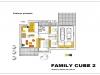 projekt rodinného domu family cube 2 podorys prizemia