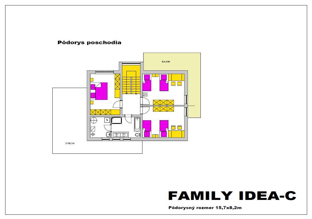 family idea c podorys poschodia