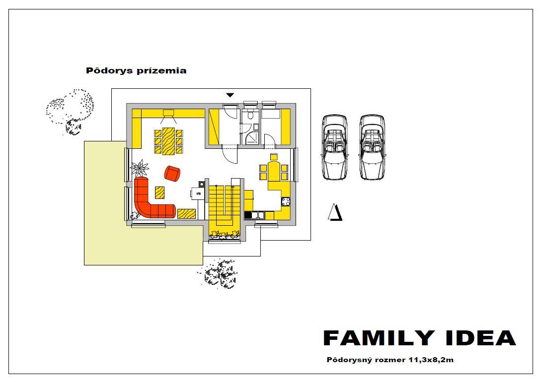 family idea podorys prizemia