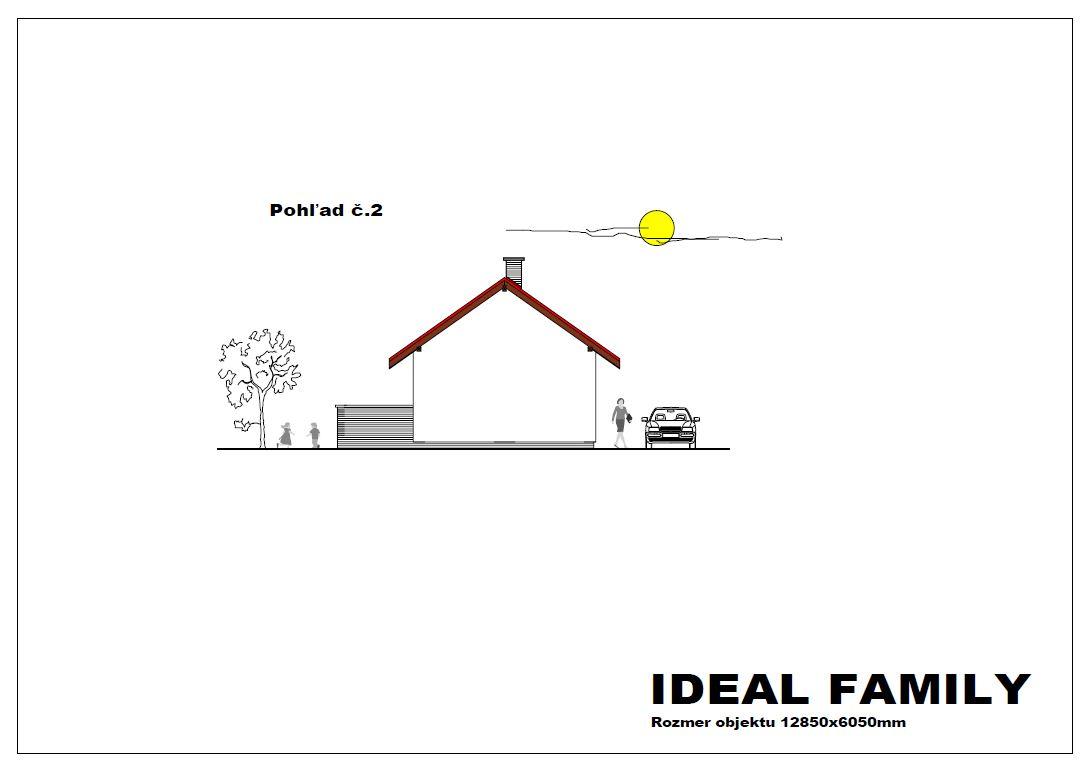 projekt rodinného domu ideal family pohlad 2