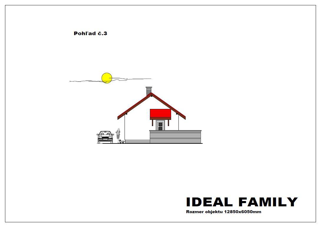 projekt rodinného domu ideal family pohlad 3