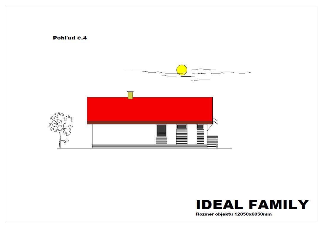 projekt rodinného domu ideal family pohlad 4
