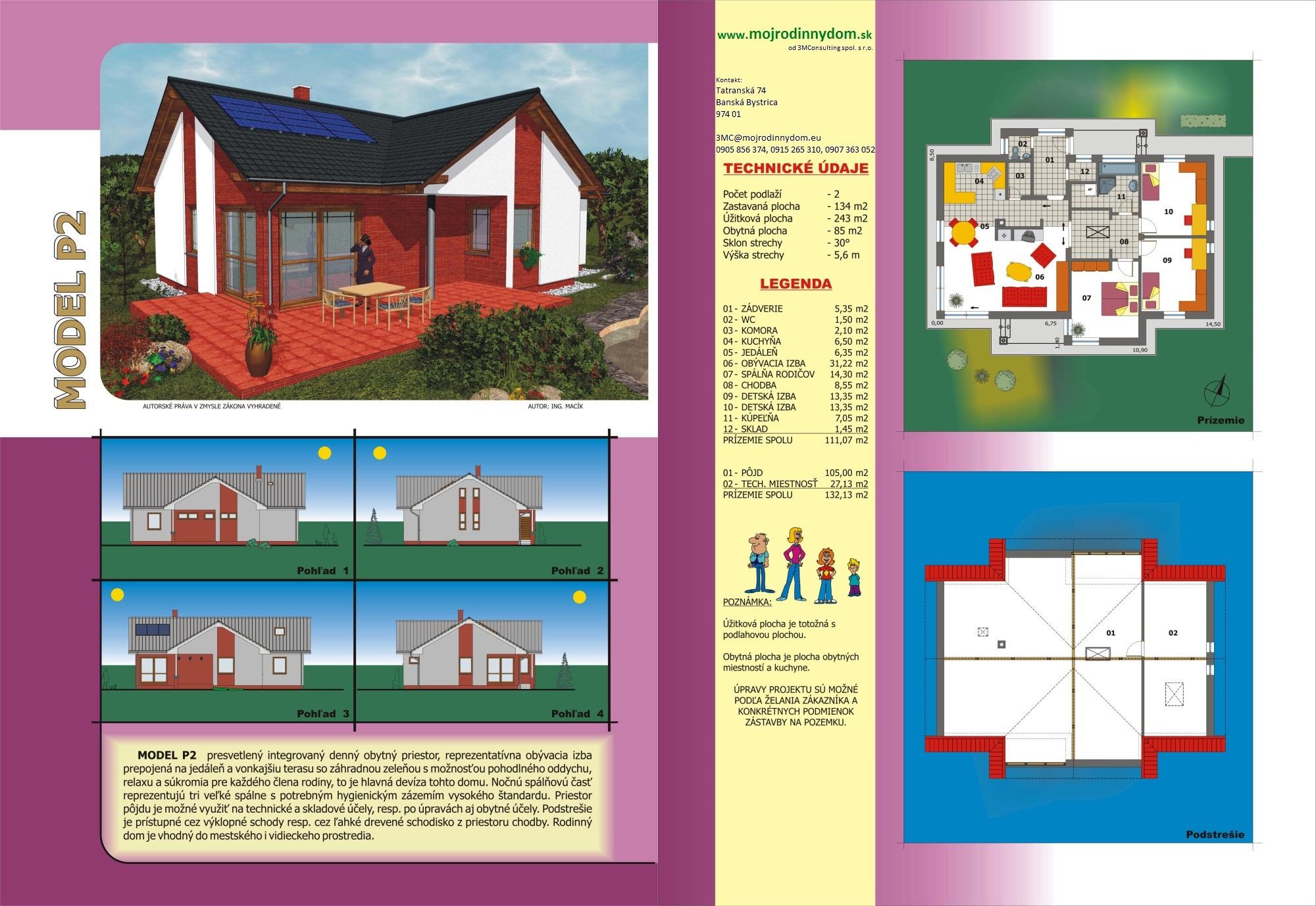 projekt prízemného rodinného domu  xp2