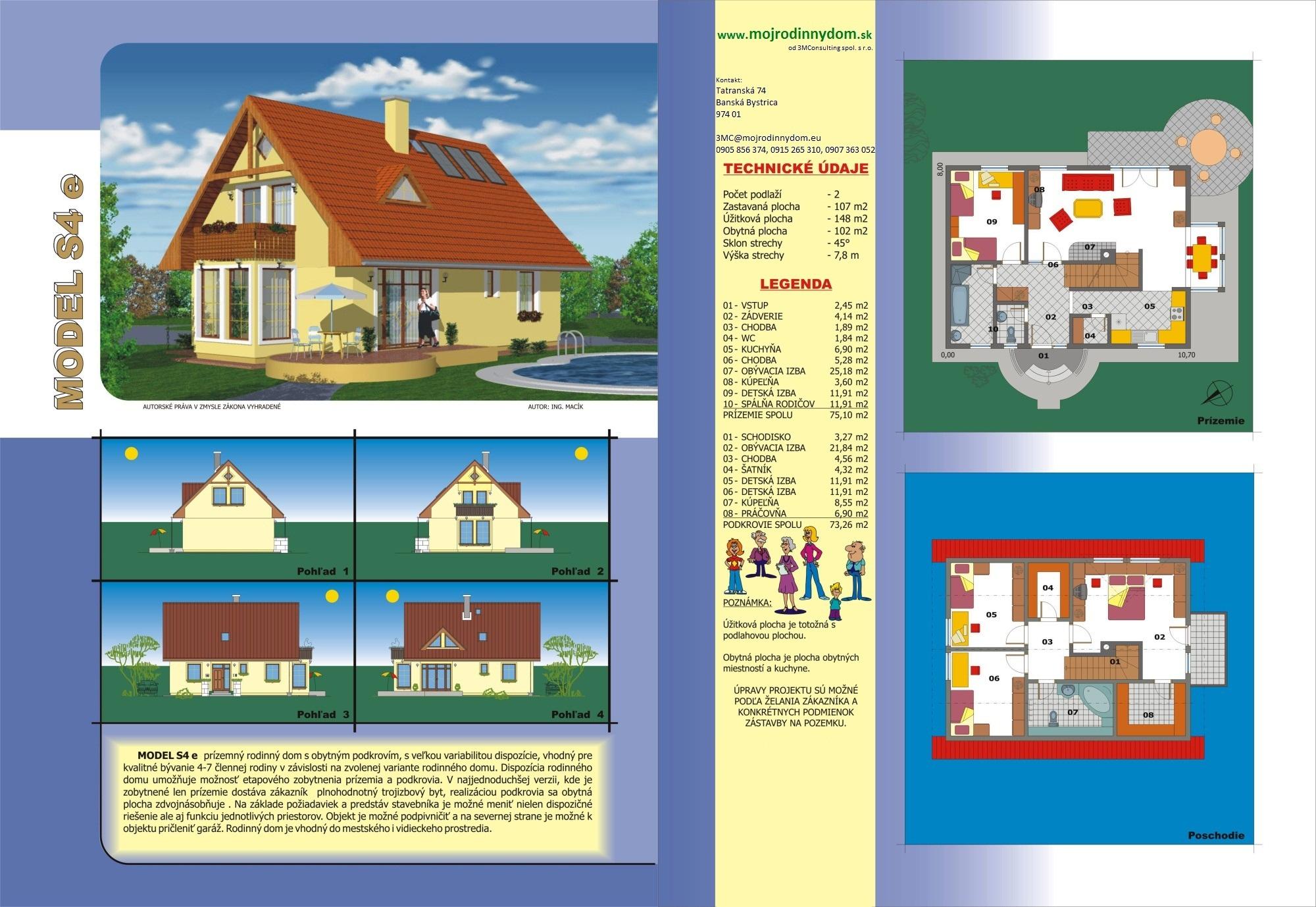 projekt stredne veľkého rodinného domu  xs4e