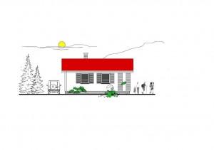katalógový projekt nízkoenergetického murovaného rodinného domu Víkend Family