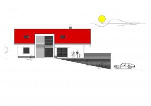 katalógový projekt nízkoenergetického murovaného rodinného domu Vila Family 3